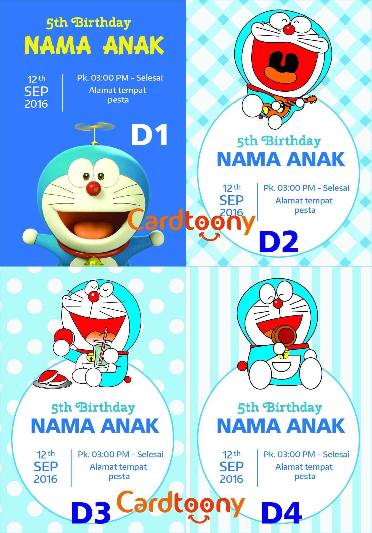 Desain Undangan Ulang Tahun Doraemon Inspirasi Pernikahan