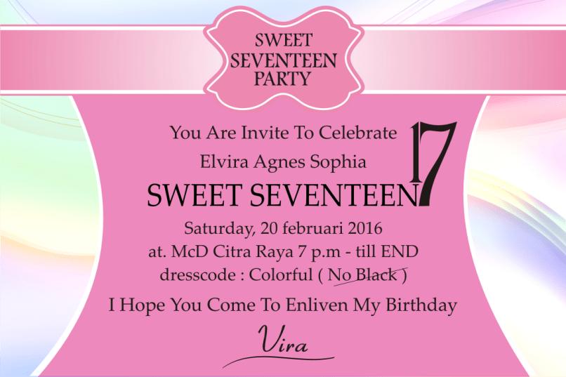 Undangan invitation birthday party inviview contoh invitation birthday party sweet seventeen inviview co stopboris Choice Image