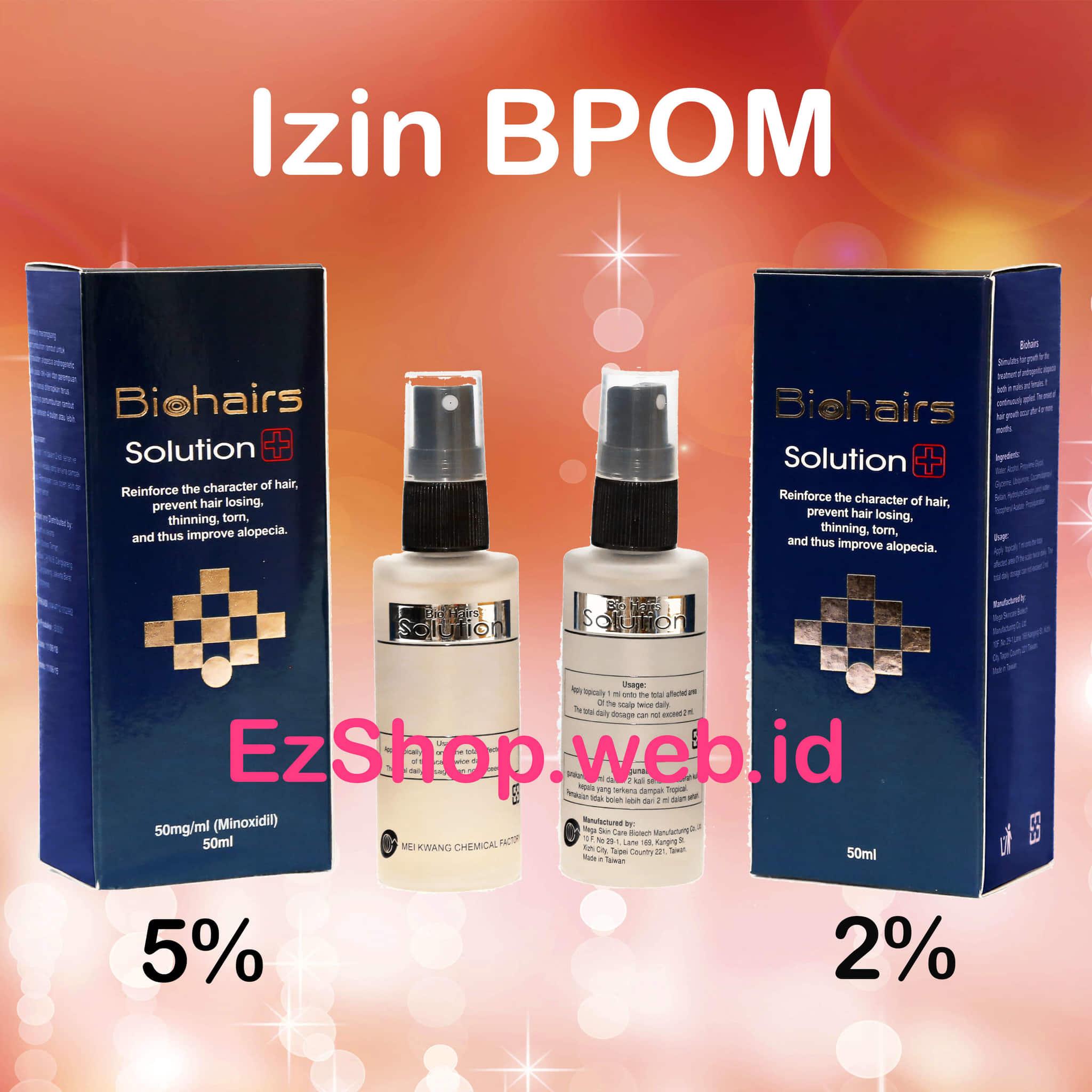 Bio Hair Solution  Tonic Penumbuh Rambut Alami Biohair Solutions