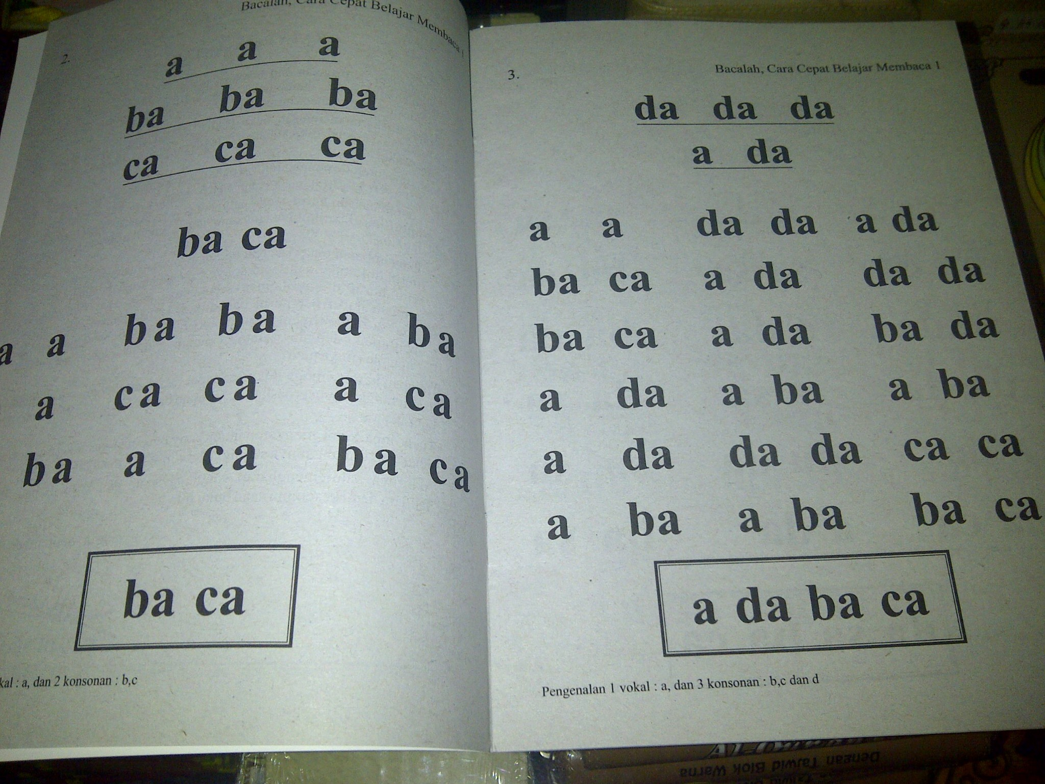 Belajar Membaca Dua Suku Kata