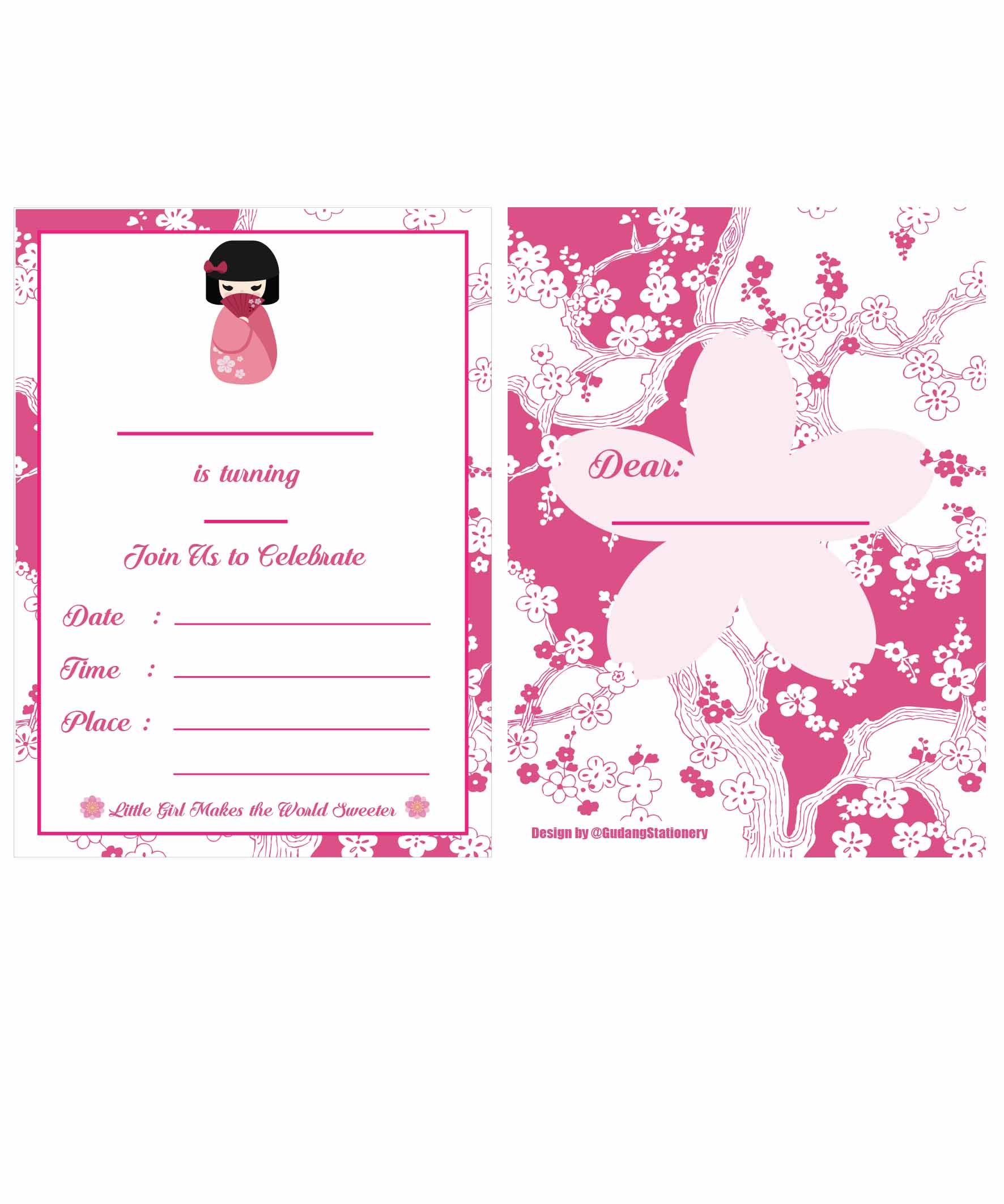 Desain Undangan Ulang Tahun Kosong Inspirasi Pernikahan
