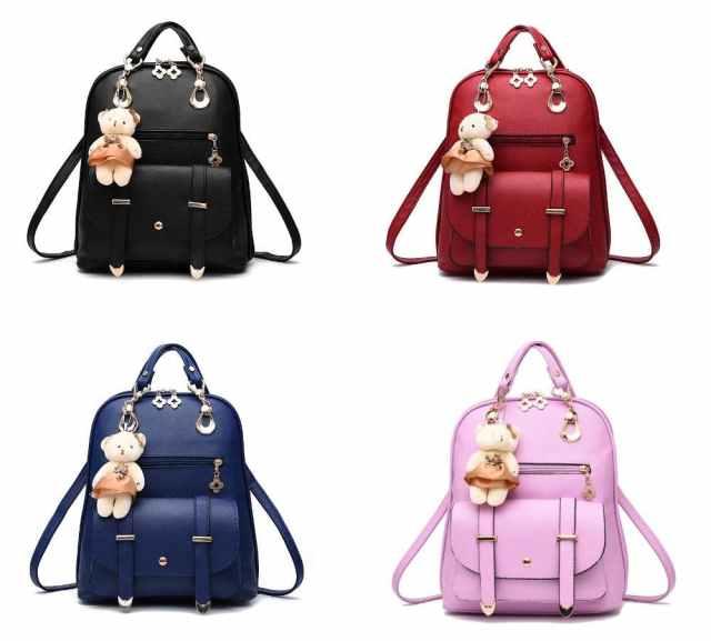 Tas Wanita Ransel Selempang Wanita Branded Import Korea Doll Backpack - Merah Muda - Jakarta