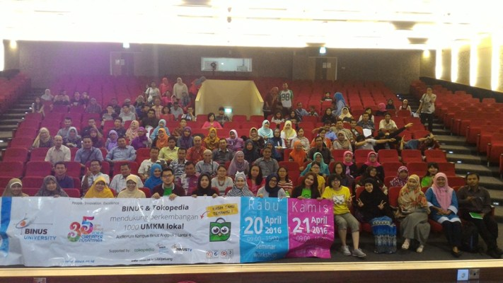 Tokopedia Meet Up: Tokopedia dan Binus Dukung UMKM Lokal