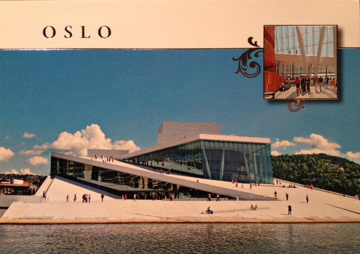 Postcard of the Opera House in Oslo