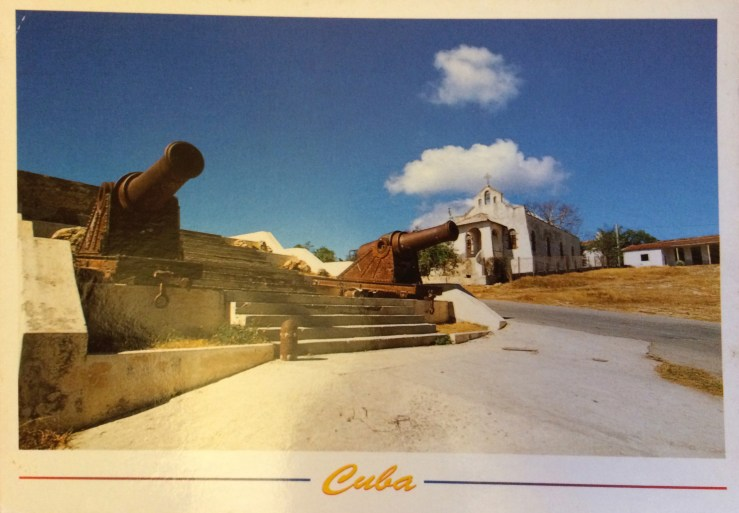 Postcard of canons