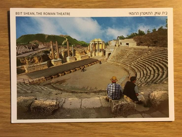 Postcard of Beit Shean, Roman amphitheater in Israel