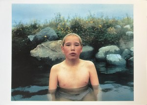 Image of a boy in a thermal pool