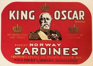 King Oscar Sardines label