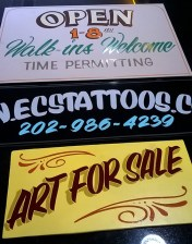 Hand painted signs from J. Bruce @ageoldsigns