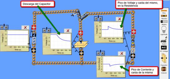 Simulacion del Circuito RC para marcapaso de corazón con applet de JAVA