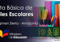 listas-básica-de-utiles-escolares-mineduc-sierra-amazonia