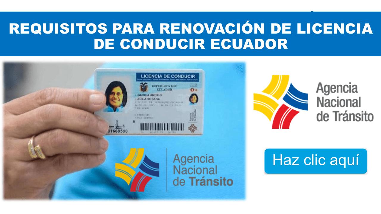 Requisitos para Renovación de licencia de conducir