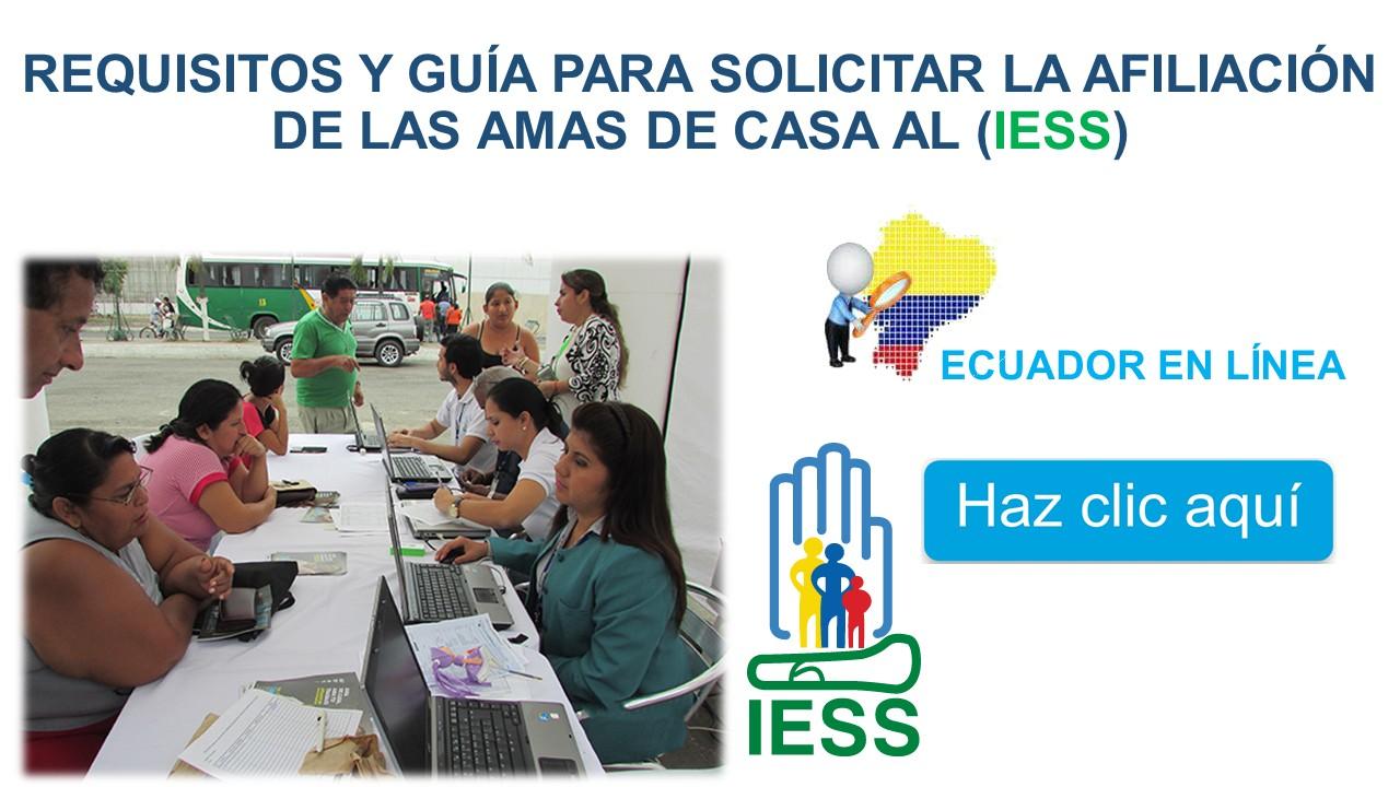 Requisitos y Guía para Solicitar la Afiliación de las Amas de Casa (IESS)