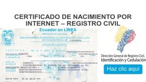 Sacar certificado de Nacimiento gratis por Internet | Registro Civil