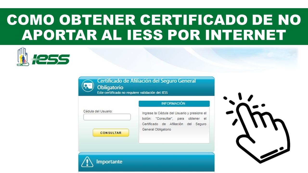 Certificado de no estar afiliado al IESS Ecuador