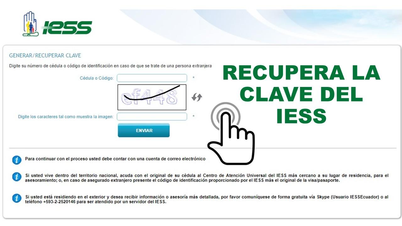 Recuperar la clave del IESS Ecuador