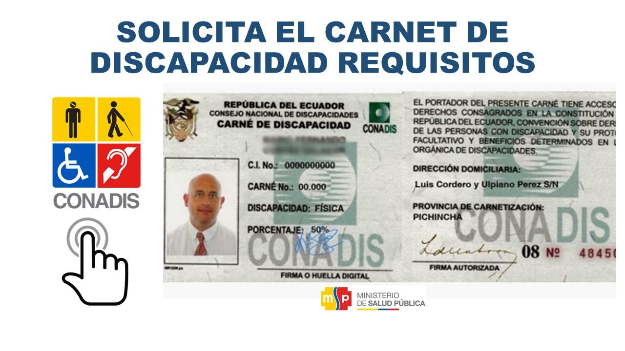 Solicitar Carnet de Discapacidad Requisitos Ecuador