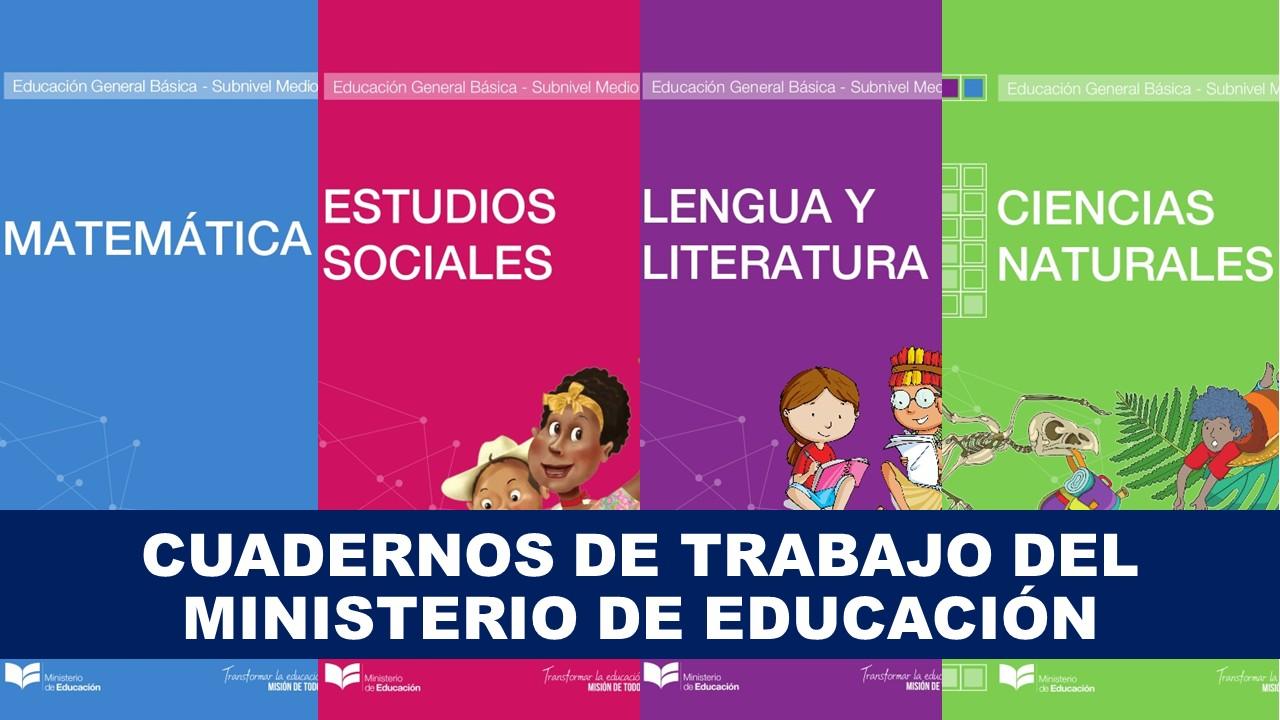Cuadernos de trabajo del Ministerio de Educación