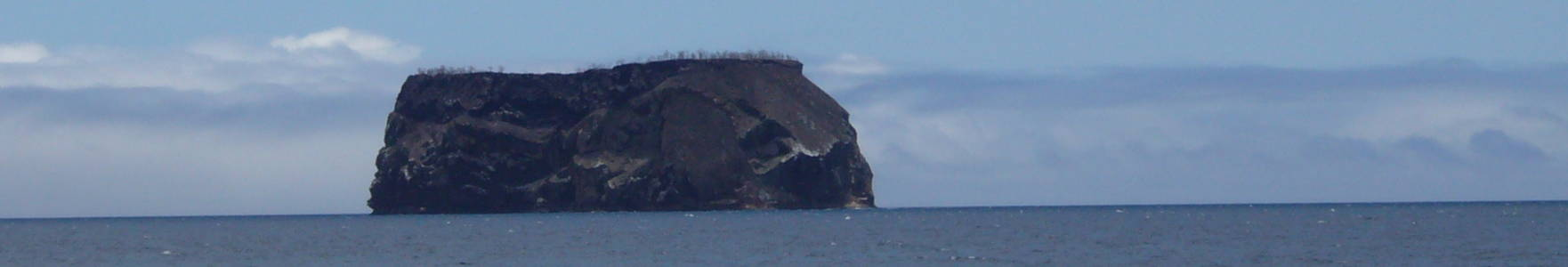 Islote en Galápagos.