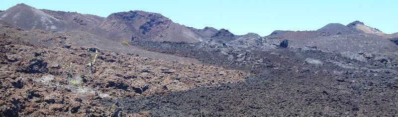 Lava en las islas Galápagos.