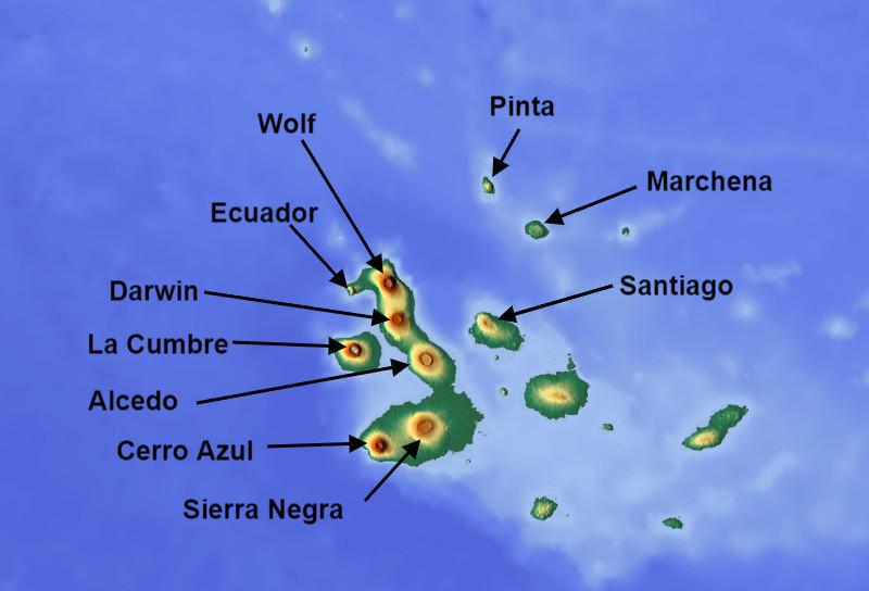 Volcanes de Galápagos.