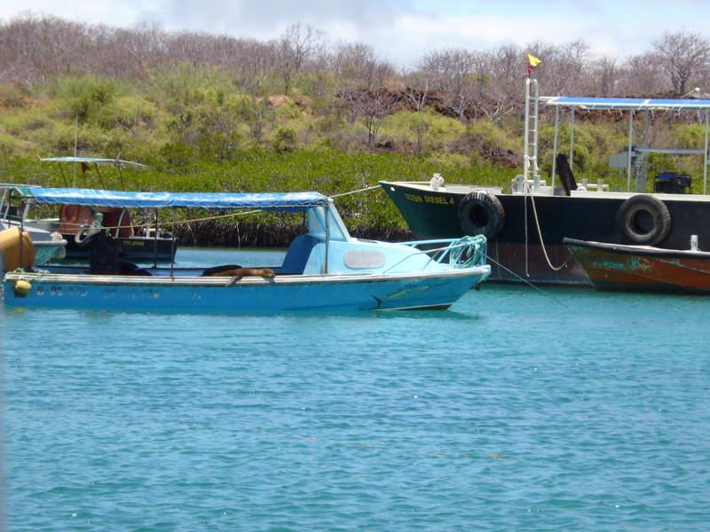 Barco en el canal de Itabaca.
