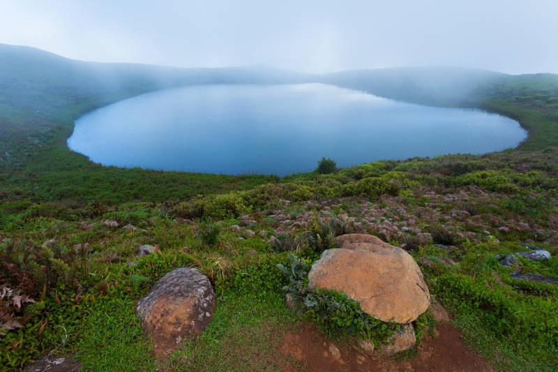 Laguna El Junco en San Cristóbal.