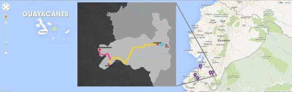 Guayacan Bloom - Map Locations