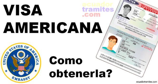 visa americana como obtenerlo