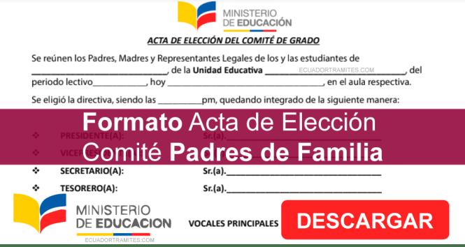 acta de comité de padres de familia