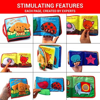 Premium Soft Cover Book for Babies & Toddlers | Durable Fabric Activity Books