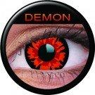 Farbige Kontaktlinsen crazy Kontaktlinsen crazy contact lenses Dämon Demon rot 1 Paar inkl. 60ml Kombilösung und Kontaktlinsenbehälter