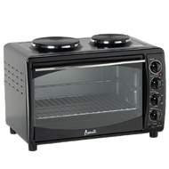 Mini kitchen w/ 2 burners Bake/Broil/Rotisserie/Convection functions,