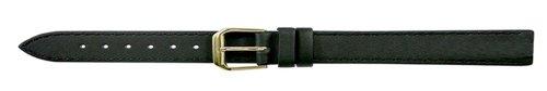 Apollo 14mm Uhrenarmband Leder schwarz, extra lang, Unterseite Nubuck