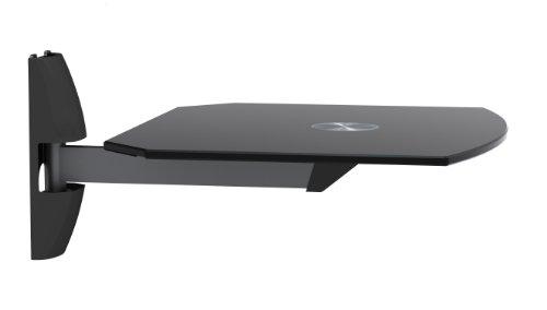 Gt Invision Ultra Modern AV Wall Mounted Glass Shelf Cantilever Swivel Arm Corner Room