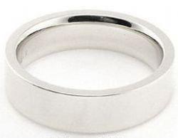 Platinum-950-5mm-Flat-Wedding-Band-Super-Heavy-Weight-Size-7