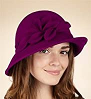 Per Una Pure Wool Leaf Scroll Cloche Hat