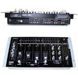 """EMB MIX6 19"""" Rack Mount 4 Channel Professional Mixer w/ Dual 7 Band Graphic EQ and more!"""