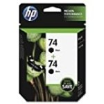 No. 74 Black Ink Cartridges, Twin Pack for $30.32 + Shipping
