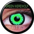 Farbige Kontaktlinsen crazy Kontaktlinsen crazy contact lenses Green Werewolf grün mit schwarzem Rand 1 Paar inkl. 60ml Kombilösung und Kontaktlinsenbehälter