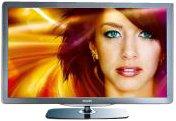 Philips 46PFL7605H/12 116,8 cm (46 Zoll) LED-Backlight-Fernseher (Full-HD, 100Hz, Ambilight Spectra 2, DVB-T/-C) schwarz/silbergrau gebürstete Decofront