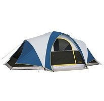Denali 18' x 10' Three Room Family Camping Dome Tent Sleeps 8 Person