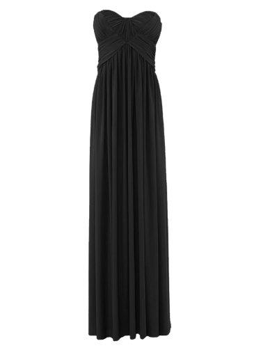 FourFlavor Elegantes Abendkleid lang, schwarz