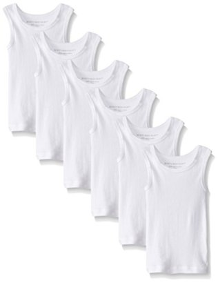 Burts-Bees-Baby-Boys-Solid-Muscle-Tanks-Pack-of-6-Cloud-12-Months
