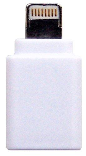 モアベスト ライトニング変換アダプター iPhone5専用 Micro USB Adapter to Lightning  ホワイト AD-M WH