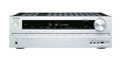 Onkyo TX-SR313 5.1 AV-Receiver für Apple iPhone/iPod (HD-Audio, 3D Ready, RDS, USB 2.0) silber