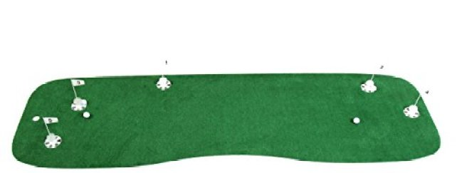 StarPro Pro-Am Professional Practice Green 10'x3' 5 Holes. 1,000's of Long Challenging Putts From All Over the Green. StarPro's Indoor/Outdoor Putting Green - Lower Your Score! (See our 9'x1.5' & 12'x6') Best Family & Golfer Holiday Gift!
