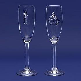 Disney Cinderella Prince Wedding Toasting Glasses Flute