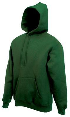 Sweatshirt * Hooded Sweat * Fruit of the Loom Bottlegreen,S Dunkelgrün,S