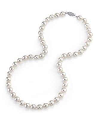14K-Gold-75-80mm-Japanese-Akoya-White-Cultured-Pearl-Necklace-AAA-Quality-20-Inch-Matinee-Length